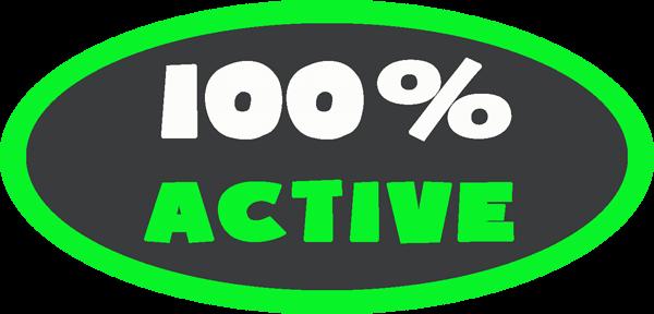 100% Active